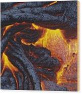 Pahoehoe Lava Texture Wood Print