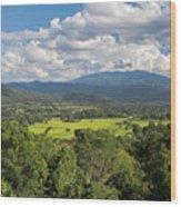 Pai Landscape View, Thailand Wood Print
