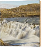 Paine River Waterfall Wood Print
