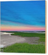 Paines Creek Sunset Cape Cod Wood Print