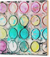 Paint Colors Wood Print