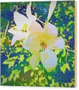 Paint Me In Water Color Said The Lilies To The Artist Wood Print