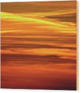 Paint The Sky Gold Wood Print