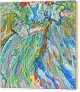 Painted Angel Wood Print