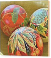 Painted Balls Wood Print