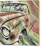 Painted Car Wood Print