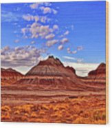 Painted Desert Colorful Mounds 003 Wood Print