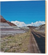 Painted Desert Road #3 Wood Print