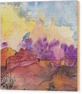 Painted Desert Wood Print