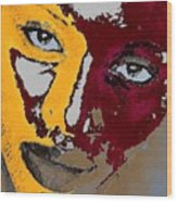 Painted Face Wood Print