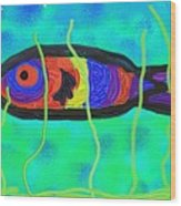 Painted Fish Wood Print