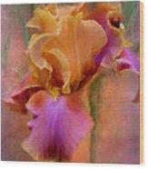 Painted Goddess - Iris Wood Print