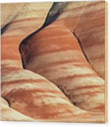 Painted Hills Stripes Wood Print