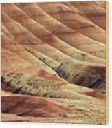 Painted Hills Textures Wood Print