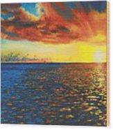 Painted Horizon Wood Print