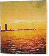 Painted In Waterlogue Wood Print