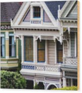 Painted Ladies Wood Print