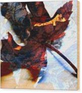 Painted Leaf Series 2 Wood Print