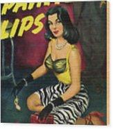 Painted Lips Wood Print
