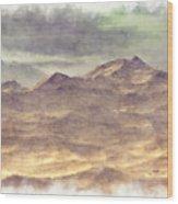 Mountainous Landscape Wood Print