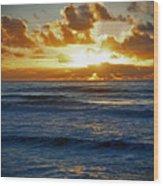 Painted Ocean Wood Print