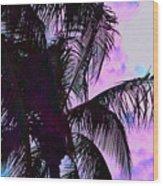 Painted Palms 4 Wood Print