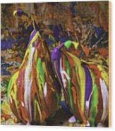 Painted Pears Wood Print