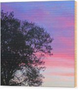 Painted Pink Sky Wood Print