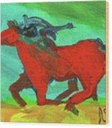 Painted Ponies - Spirit Rider Wood Print