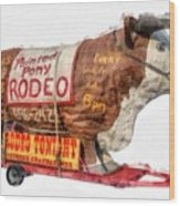 Painted Pony Rodeo Lake George Wood Print