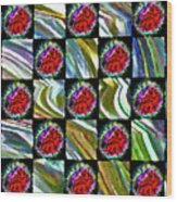 Painted Quilt Wood Print