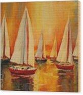 Painted Sails Wood Print