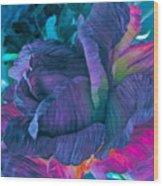 Painted Silk Wood Print