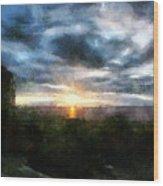 Painted Skies 01 Wood Print