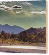 Painted Sky Wood Print