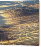 Painted Sky Five Wood Print