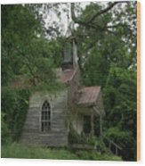 Painted St. Simons Church Wood Print