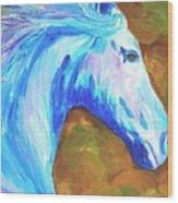 Painted Stallion Wood Print