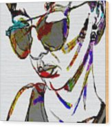 Painted Sunglasses Wood Print