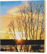 Painted Sunset Wood Print