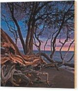 Painted Tree Wood Print