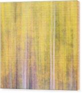 Painted Trees IIi Wood Print