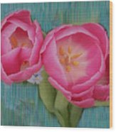 Painted Tulips Wood Print