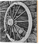 Painted Wagon Wood Print