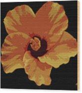 Painter Hibiscus Wood Print