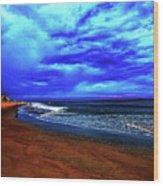 Painterly Beach Scene Wood Print