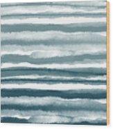 Painterly Beach Stripe 1- Art By Linda Woods Wood Print
