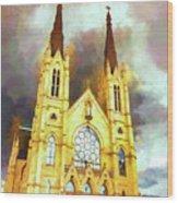 Painterly Church Wood Print