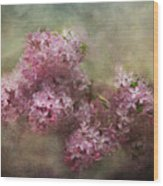 Painterly Lilac Blossom Photograph Wood Print