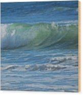 Painterly Waves Wood Print